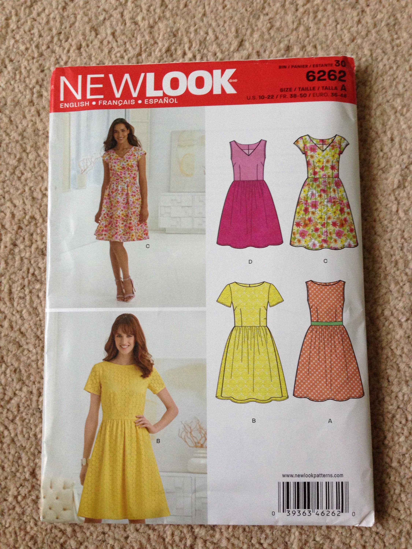 NewLook-6262 New Look Ladies Easy Sewing Pattern 6262 Summer Dresses
